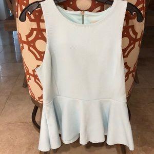 H&M pretty light blue sleeveless Blouse
